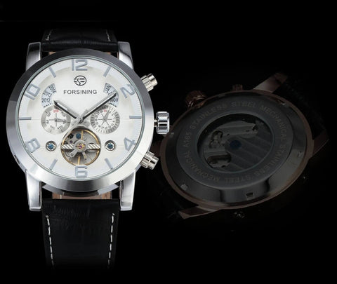 Genuine Leather Automatic Mechanical Watch For Men detail1