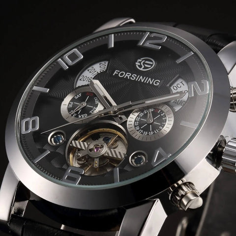 Genuine Leather Automatic Mechanical Watch For Men detail2
