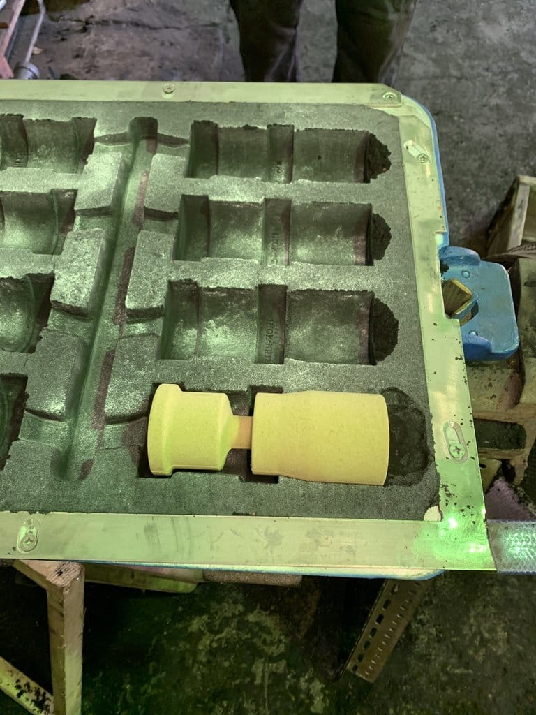Iron-Mills Casting Mould with Cores Fitted Inside