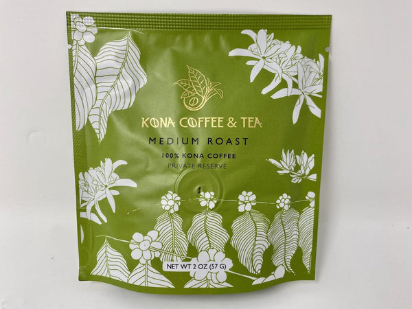 100% Kona Coffee Medium Roast 2oz