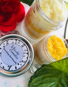 Peaches & Cream Dead Sea salt body scrub - Whàwhá Cosmetics