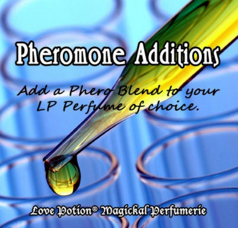 Love Potion Add Pheromones image of dropper and beekers.