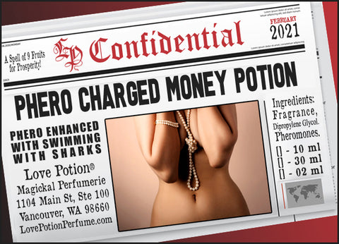 Phero-Charged Money Potion w/ Swimming with Sharks ~ Pherotine 2021 ~ Phero Enhanced Fragrance for Women