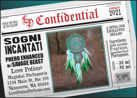 Sogni Incantati w/ Savage Beast (Spray) ~ Pherotine 2021 ~ Phero Enhanced Fragrance for Everyone