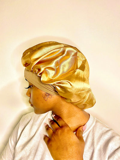 previously polyester now Satin Bonnet with Premium Quality - Prevents longterm hair breakage