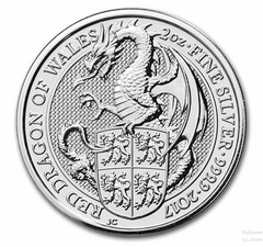 Silver British 2-oz Dragon 2017