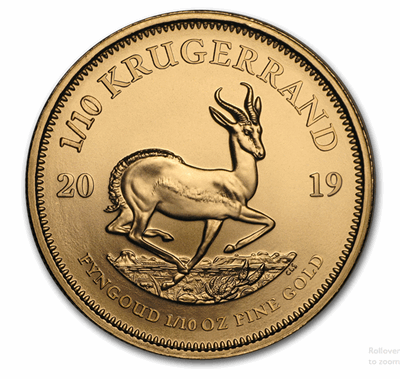 Gold South African Krugerrand 1/10-oz