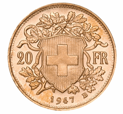 Gold Swiss 20-Franc