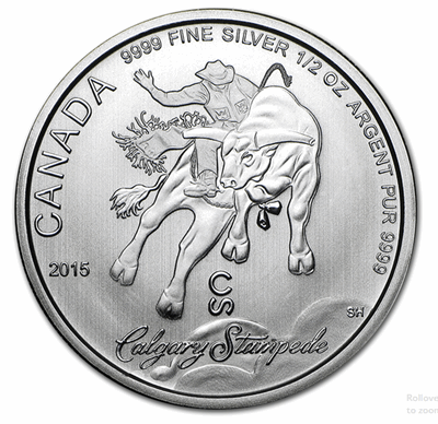 Silver Canadian Calgary Stampede 1/2-oz