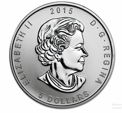 Silver Canadian Horned Owl 1-oz 2015