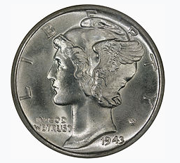 Silver Mercury Dime Circulated