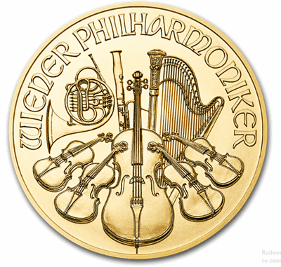 Gold Austrian Philharmonic 1/10-oz