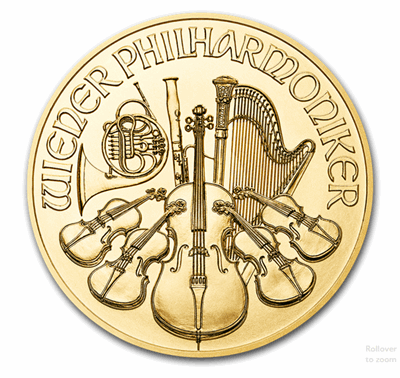 Gold Austrian Philharmonic 1/4 oz