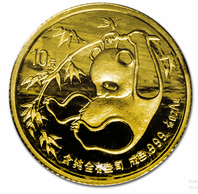 Gold Chinese Panda 1/10-oz