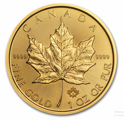 Gold Canadian Maple Leaf 1-oz 0.9999-fine