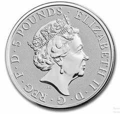 Silver British 2-oz Falcon 2019