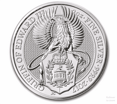 Silver British 2-oz Griffin 2017