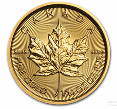 Gold Canadian Maple Leaf 1/10-oz