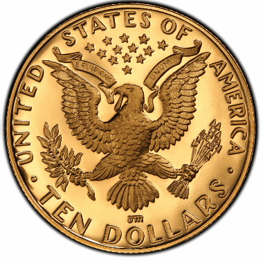 Gold Modern Commemorative $10 BU/PF