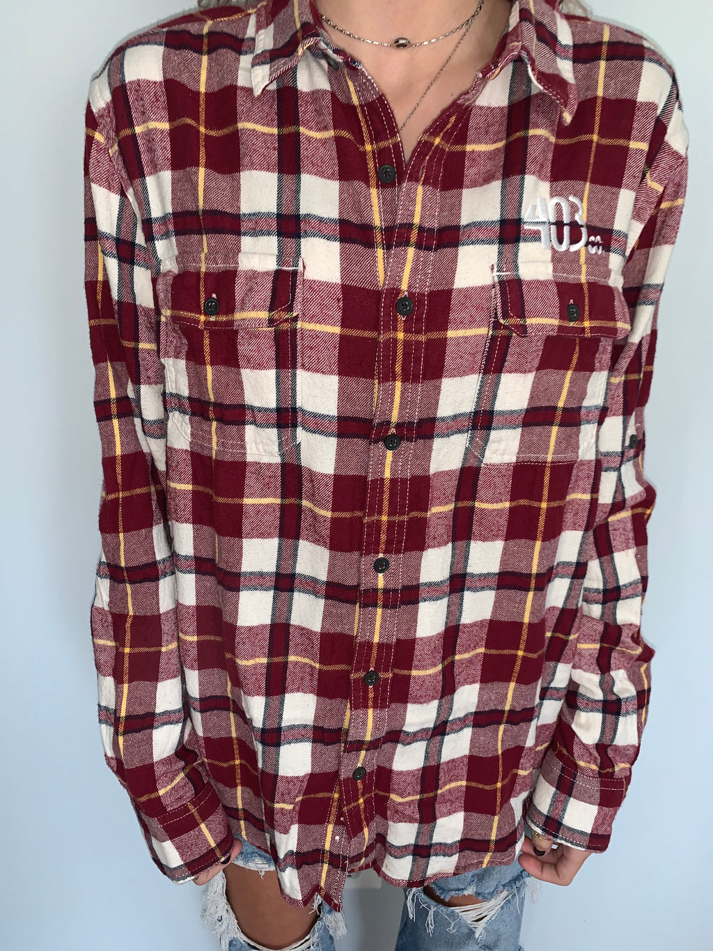 Burgundy x Yellow Flannel