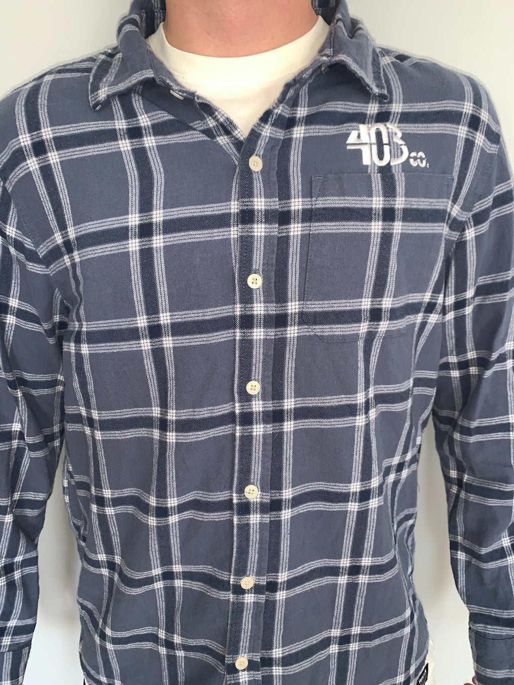 Faded Blue Checkered Flannel