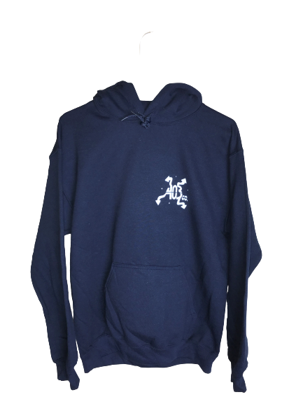 Navy Split Night and Day Hoodie