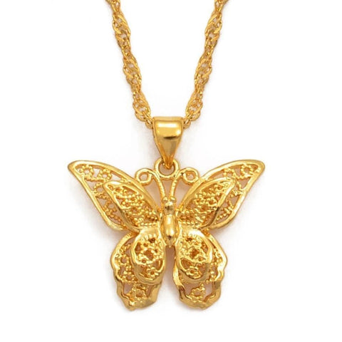 Collier Papillon Or Oriental - Rêve de Papillon