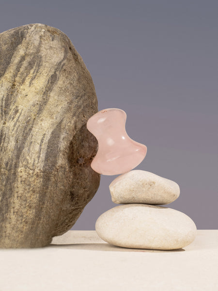 Eye Depuffing Rose Quartz Gua Sha
