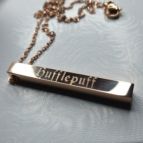 Hufflepuff necklace hold