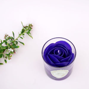 Purple Rose Scented Candle