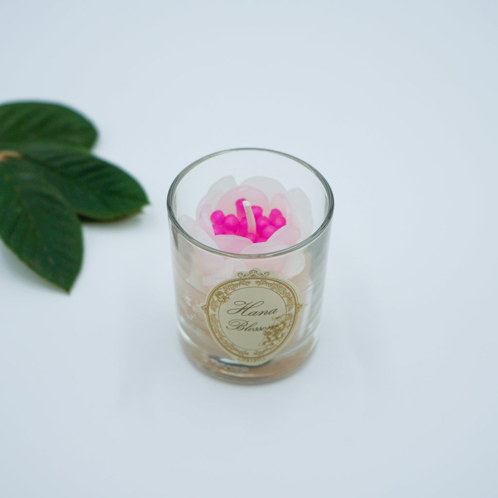 Small Votive Peony Scented Candle with Oriental
