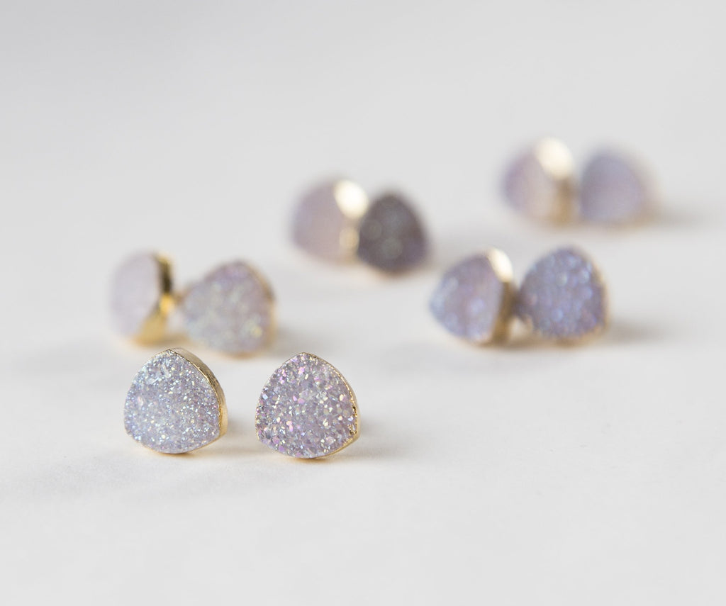 Gold plated Lilac Earrings