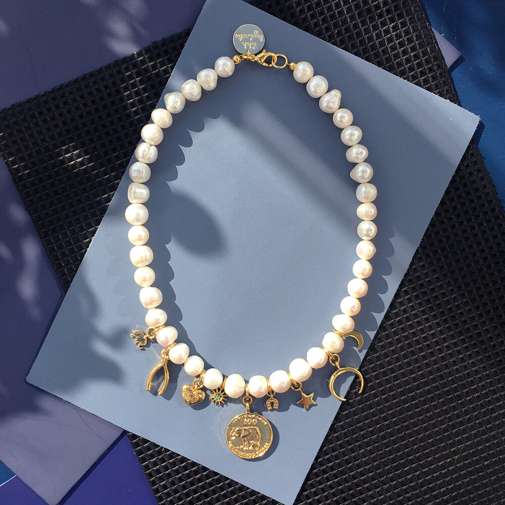 Lucky Charm Pearl Necklace
