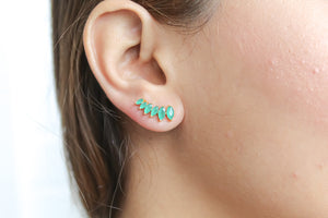 Stepping Stone Bombay Sunset Climber Earrings
