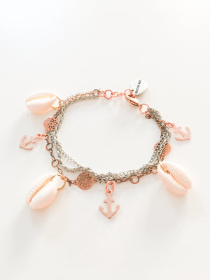Shells and Anchors Bracelet