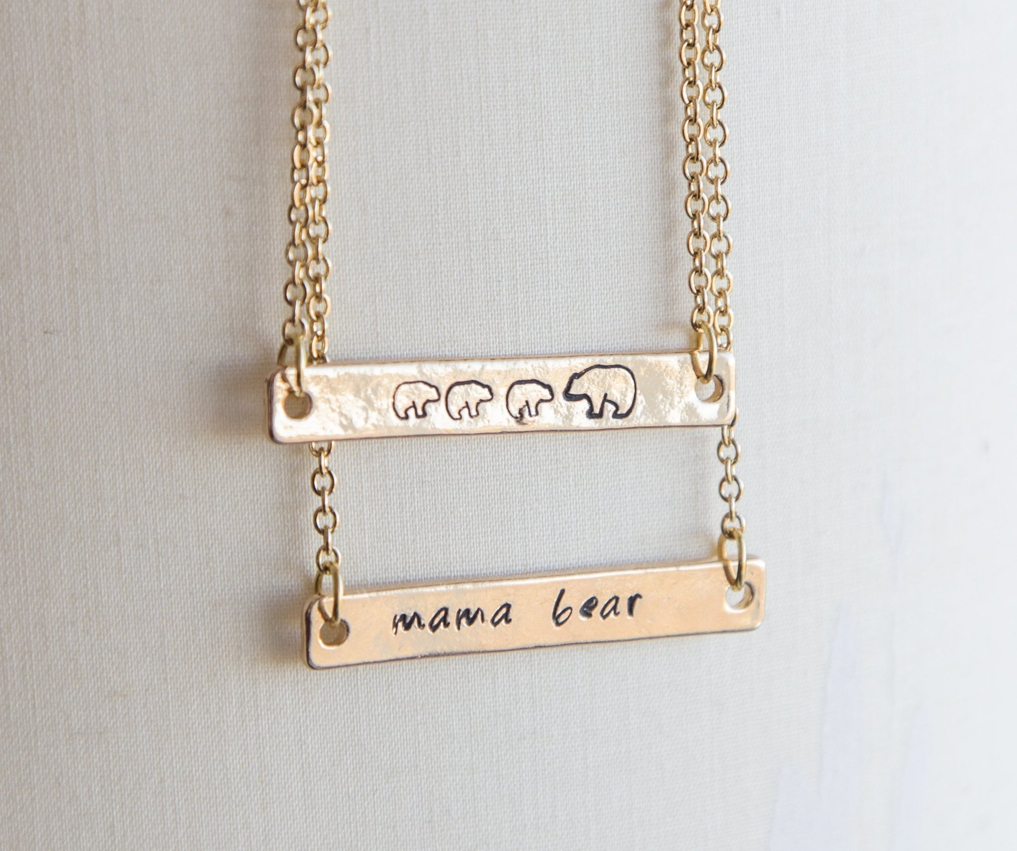 Mama Bear Gold Necklace - Studio Cosmica