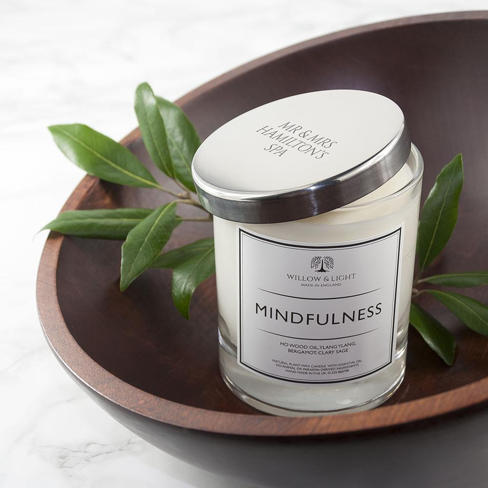 Personalised Mindfulness Candle - Perfect Gift - Studio Cosmica
