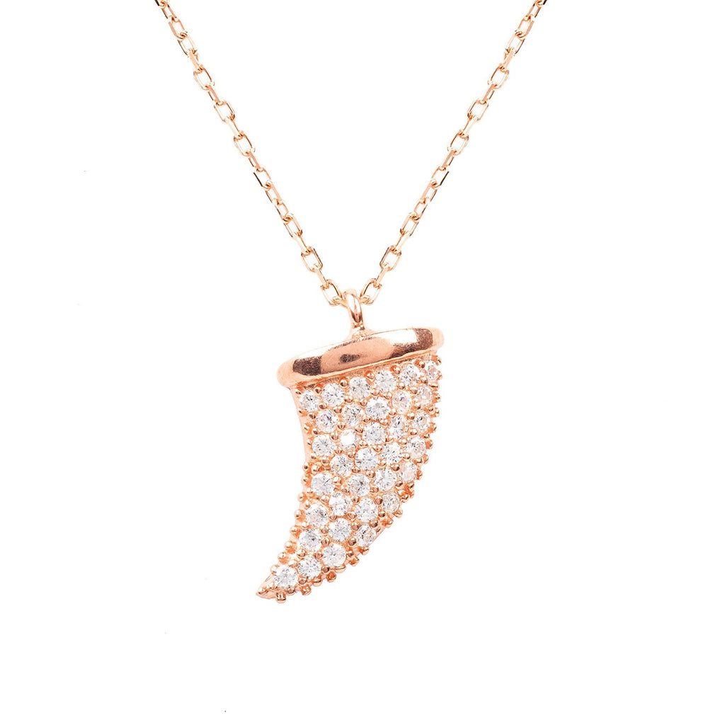 Premium 22ct Rose Gold Tusk Necklace - Studio Cosmica