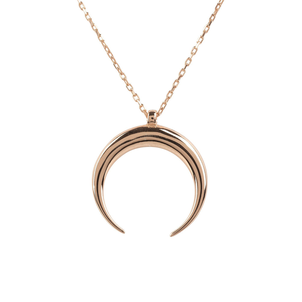 Premium Cosmic Horn Tusk Necklace Sterling 22ct Rosegold - Studio Cosmica