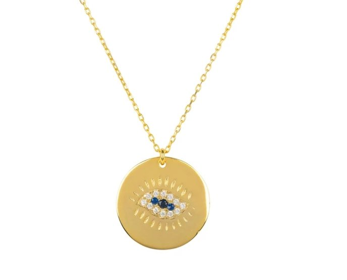 Premium Evil Eye Necklace in Gold - Studio Cosmica