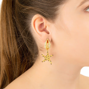Premium Starfish Shell Earring in Rosegold - Studio Cosmica