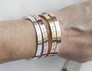 Your Anxiety Is Lying To You Bracelet, Engraved - Studio Cosmica