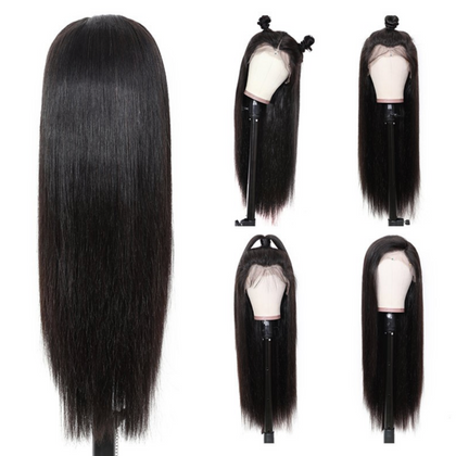 Every Woman Hair Straight Hair Pre-plucked 360 Lace Frontal Wigs Human Hair 180% and 150% Density
