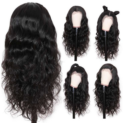 EveryWomanHair Hot Selling Body Wave 360 Lace Frontal Wig 180% Density Pre-plucked Brazilian Human Hair Wigs