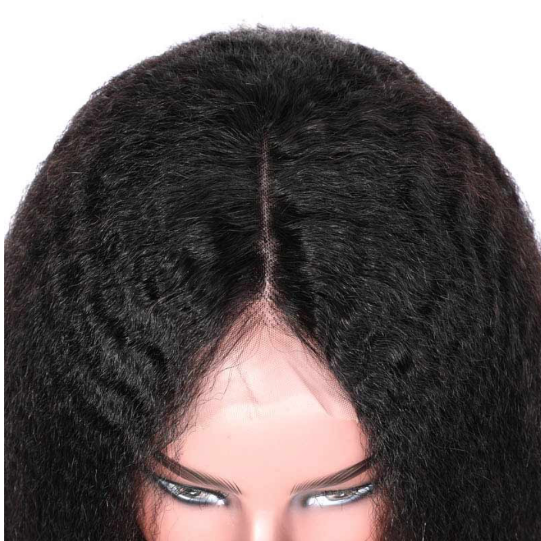 EveryWomanHair Kinky Straight Bob Wig 13x4 Lace Front Wigs Virgin Human Hair 130% Density