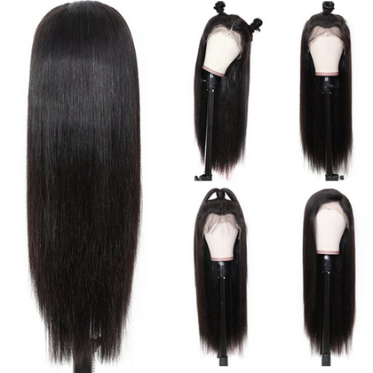 EveryWomanHair 180% Density Pre-Plucked Long Straight Hair 13x4 Lace Front Wigs 100% Human Hair