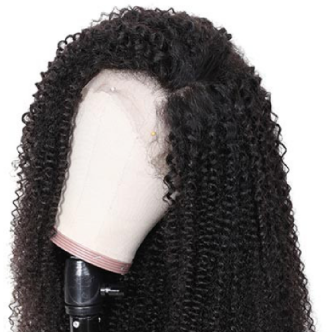 EveryWomanHair Realistic Kinky Curly 13X4 Lace Front Wigs Human Hair 130% Density Natural Color On Sale