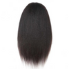 13x6 Lace Front Kinky Straight Natural Hairline 150% Density Human Hair Wigs