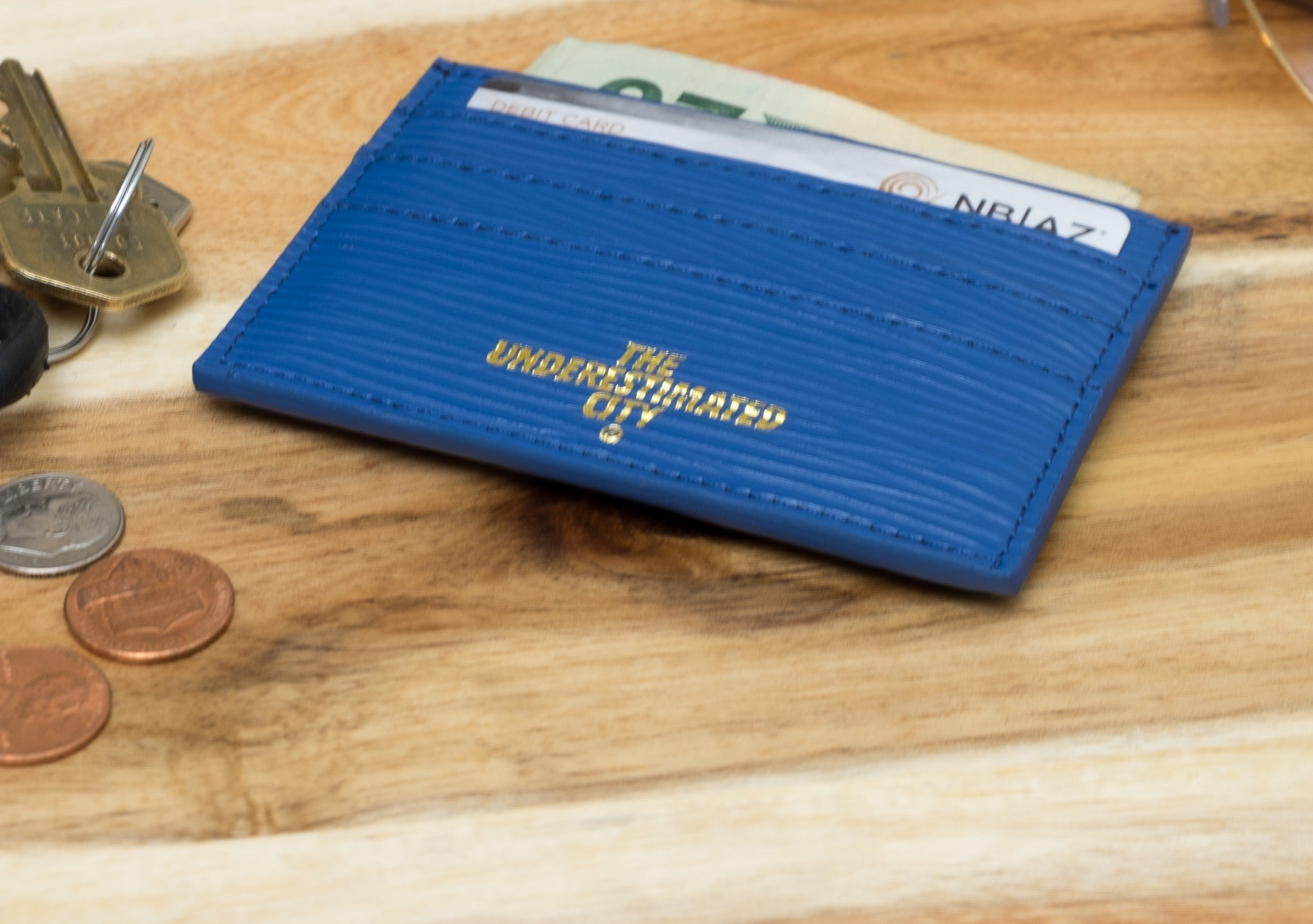 The Underestimated City Slim Card Holder (Royal)