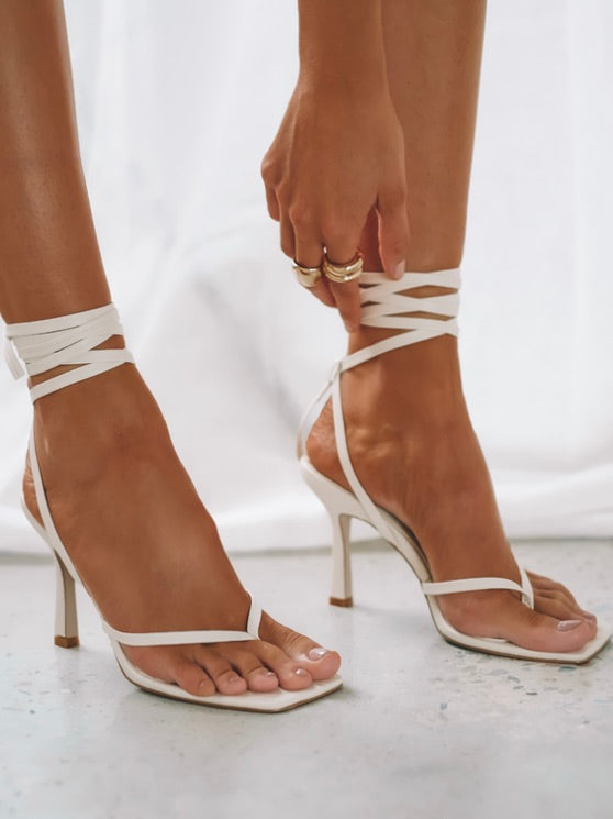 Saski Heels in Bone by BILLINI